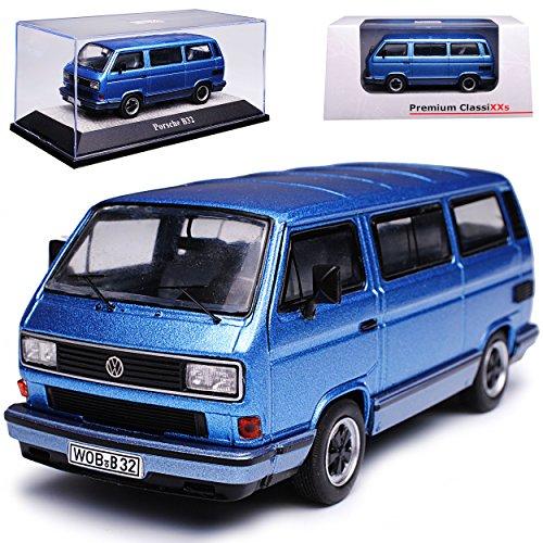 Premium ClassiXXs Porsche Volkwagen T3 Porsche B32 Transporter Personen Blau Grau 1979-1992 1/43 Modell Auto