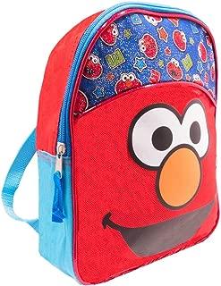 Elmo Toddler Preschool Backpack - Deluxe 11 Inch Sesame Street Elmo Mini Backpack