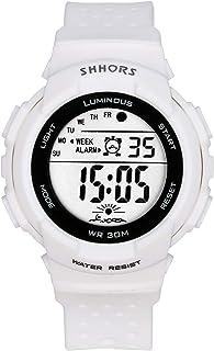 Lancardo Reloj Electrónico de Hombre Mujer Unisex Reloj Deportivo Correa de Plástico Dial Redondo Números Árabes Reloj Dig...