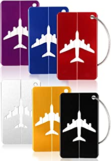 6PCS Metal Travel Luggage Tags Strings Card, Suitcase Travel ID Bag