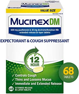 MUCINEX DM Extended Release Bi-Layer Tablet, 68 count