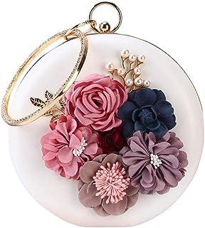 Gjyia Frauen Floral Strass Perlen Armband Clutch Shoulde Crossbody Taschen Geldbörse Abend Party Braut Handtasche