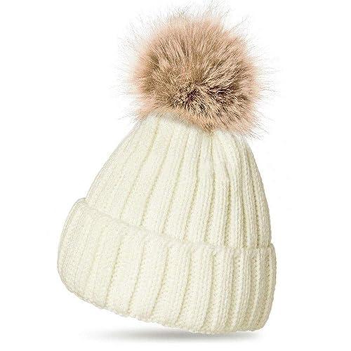Women Ladies Winter Pom Pom Hat Cosy Beanie Warm Winter Cap Pom Pom Bobble  Hat ( bc0525810b3