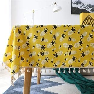 SONGHJ Algodón poliéster Planta Verde Mantel Decorativo Estampado de Cactus Cubierta de Mesa de Comedor de Boda a Prueba d...