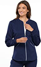 Cherokee Luxe Sport Women's Zip Front Warm-up Scrub Jacket