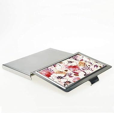Business Card Case,Metal Business Card Holder Pocke Slim Business Card Carrier Business Card Holders Wallet for Men & Wom