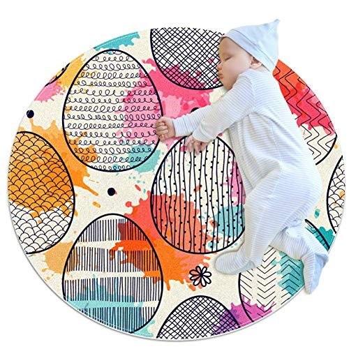 Easter Eggs Baby Play Mats - Baby Crawling Mats for Boys and Girls - Children's Room Decor for Play Carpet Floor Carpets