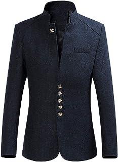 HX fashion Suit Men's Slim Men's Fit Tunic Wedding Regular Stand Comfortable Sizes Collar Oversize Coat Suit Jacket Men's ...