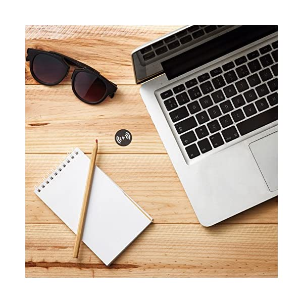 Fi60 – Cargador inalámbrico Fast charge para mobiliario de miniBatt, 60mm Wireless charge, instalación fácil visible o…
