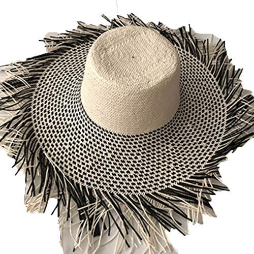 Zonnekleppen MYKK Zomer Strohoed Vrouwen Grote Brede Rand Strandhoed Zonnehoed Opvouwbaar Zonnescherm Uv-bescherming Panamahoed Bot