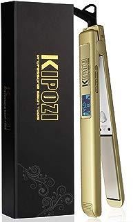 KIPOZI 1 Inch Pro Nano-Titanium Flat Iron,450F Salon High Heat,Anti Frizz LCD Hair Straightener, Dual Voltage