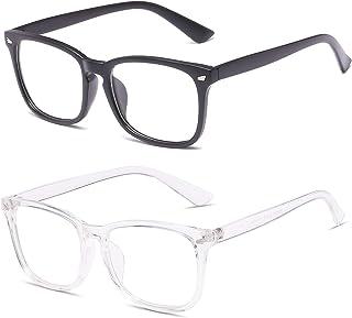 MBULON Blue Light Blocking Glasses Square Computer Glasses Women/Men Nerd Reading Gaming Glasses Non Prescription