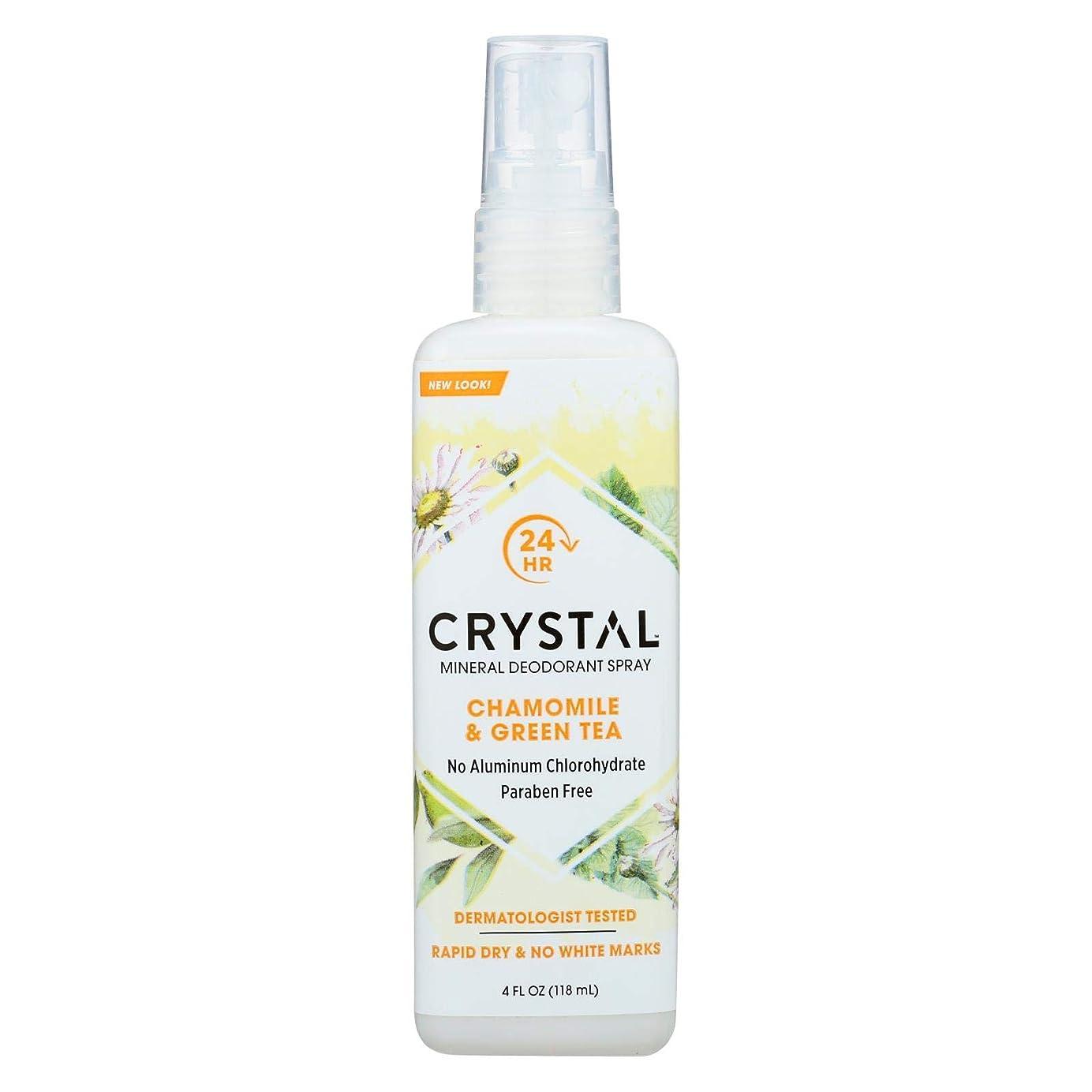 国旗ホイストかもしれないCrystal Body Deodorant - 水晶本質のフランスの運輸Chamomile及び緑茶によるミネラル防臭剤ボディスプレー - 4ポンド
