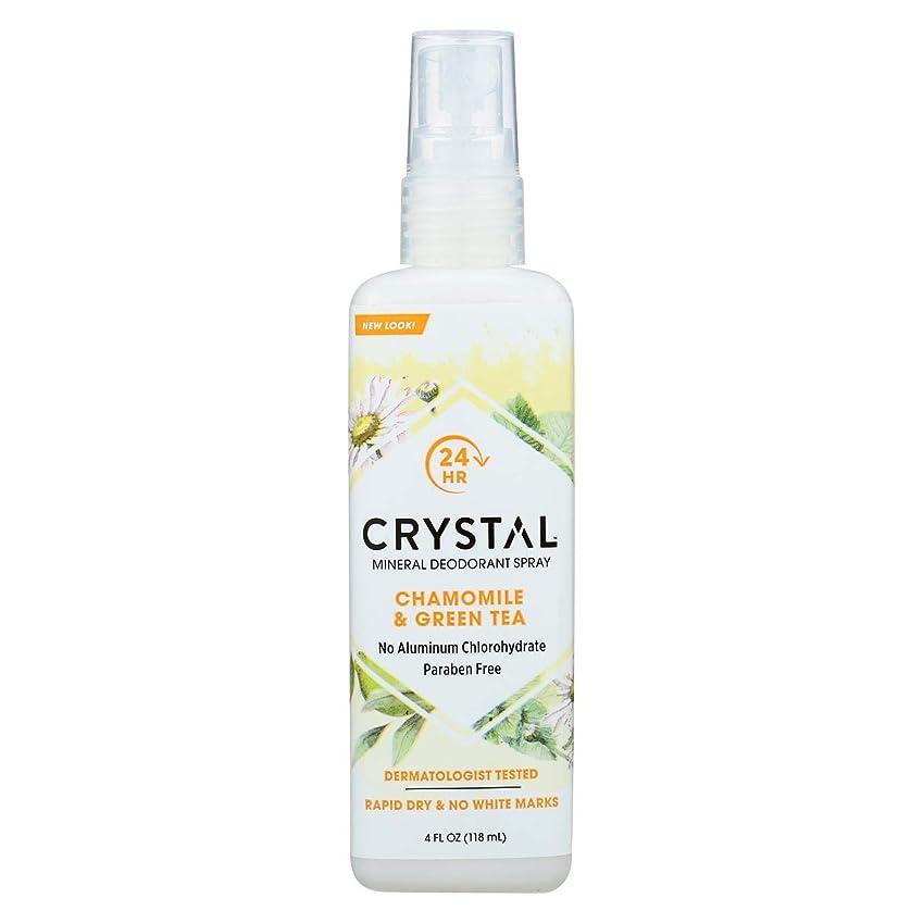 和解するガチョウ犯すCrystal Body Deodorant - 水晶本質のフランスの運輸Chamomile及び緑茶によるミネラル防臭剤ボディスプレー - 4ポンド