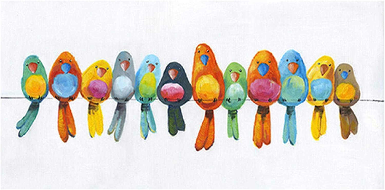 Sunsightly Print on Canvas Colourful Challenge the lowest price of Japan ☆ Animal Max 45% OFF Wire Artist Birds