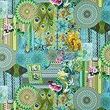 Fabulous Fabrics Halbpanama türkis, 140cm breit –