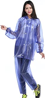 ZXQZ レインコートアダルトアウトドアレインコートフルボディ防水ポンチョスーツシックファッションレインコート ポンチョ (色 : 青)