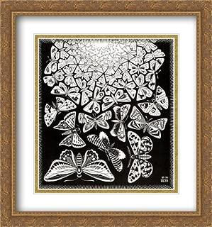 ArtDirect M.C. Escher 2X Matted 28x30 Gold Ornate Large Framed Art Print 'Butterflies'