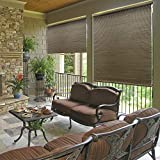 Radiance All Natural Bamboo Crank Shade, 96 In. W x 72 In. L, Driftwood