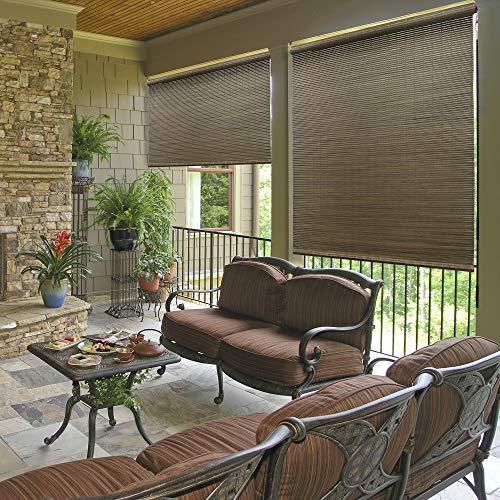 "Radiance All Natural Bamboo Crank Shade, 96"" x 72"", Driftwood"