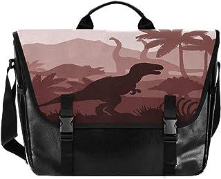 Jurassic Dinosaurio de dibujos animados hombres y mujeres lona, bolso de hombro para mujer, estilo retro, ideal para iPad,...