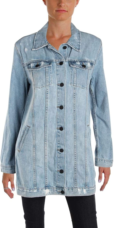 Sanctuary Clothing Womens Long Denim Jacket Nysawash M
