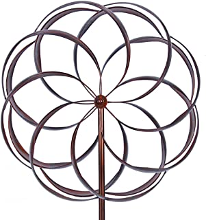 Win Wind Spinner-Outdoor Metal Kinetic Kinetic Garden Wind Spinners - Decorative Lawn Ornament Wind Mill - Unique Outdoor Lawn and Garden Décor