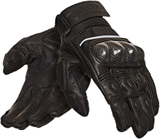 Royal Enfield Black Leather Protective Riding Gloves for Men (RRGGLH000063)