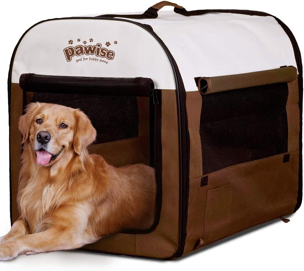 PAWISE Raleigh Mall Portable Soft Dog Crate Folding Kennel Anim Samll Cat Pet Max 75% OFF