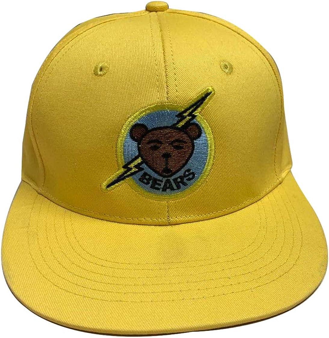 borizcustoms Bad News Bears Baseball Hat Adjustable Buckle Slide New Stitch Cap Ultra Yellow