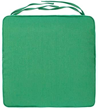 eLuxurySupply Sunbrella Outdoor Box Seat Cushion | Fade, Water & Stain Resistant | Industry Leading 2,000 Hour Sunlight Rating | Made in The USA, Spotlight Emerald
