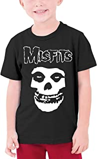 David E Everett Misfits Youth T-Shirt Short Sleeve Cotton Graphic Tee for Girls Boys Teenager