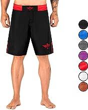 Elite Sports Men's MMA Fight Shorts, Black Jack UFC, BJJ, No Gi, Grappling, Jiu Jitsu Shorts