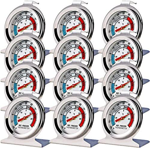 12 Pack Refrigerator Freezer Thermometer Large Dial Thermometer product image