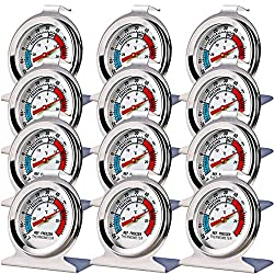 Image of 12 Pack Refrigerator Freezer Thermometer Large Dial Thermometer: Bestviewsreviews