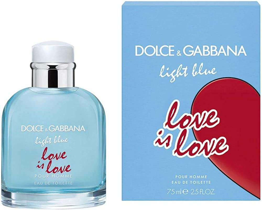 Dolce & gabbana light blue pour homme love is loveeau de toilette 75ml - edizione limitata 3423473109655