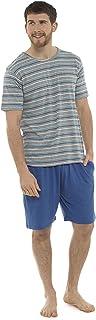 Socks Uwear Mens Jersey Cotton Short Sleeve Striped Top Pyjama