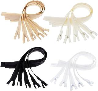 gazechimp 20 Conjuntos de Zíperes Invisíveis de Nylon Acessórios de Costura de Costura Diy 20,9 Polegadas
