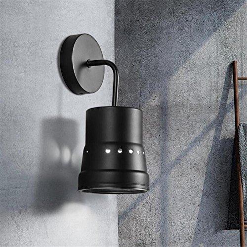 Atmko®Applique Murale Mur Lumière Intérieur Moderne Noir Couleur Fer Forgé Applique Murale Lampe Applique Lumière Décorative Lumière E27 Luminaire Pour Salon Chambre Lumière Couloir Lumière