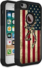 iPhone 5S Case,iPhone SE Case,iPhone 5 Case,Rossy Camo American Flag Design Shock-Absorption Hard PC and Soft Silicone Dual Layer Hybrid Armor Defender Protective Case Cover for Apple iPhone 5S/SE/5