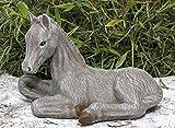 Tiefes Kunsthandwerk Pferde-Figur - in braun, Pferde-skulptur als schönes Wohnaccessoire oder Geschenk, Pferde-Statue als Deko für Garten, Haus und Wohnung