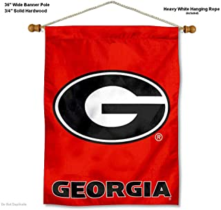 College Flags and Banners Co. Georgia Bulldogs G Logo Banner with Hanging Pole