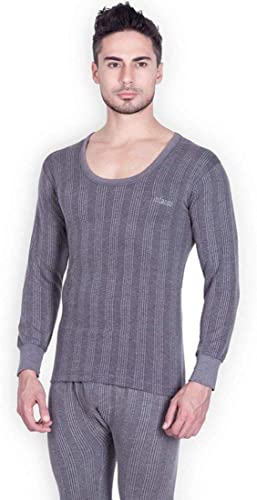 Men s Solid Round Neck Thermal Vest Top For Winter