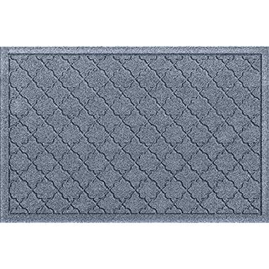 Bungalow Flooring Waterhog Doormat, 2' x 3', Skid Resistant, Easy to Clean, Catches Water and Debris, Cordova Collection, Bluestone