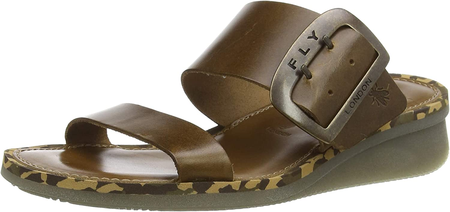 Max 61% OFF Womens Cheap mail order shopping Fly London Cape Beach Holiday Wedge Leather Sandal Summer