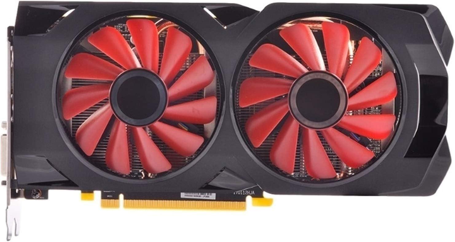 WSDSB Tarjeta De Gráficos Reemplazo Fit For XFX RX 570 4G 4GB Tarjeta De Video 256bit GDDR5 4GB Tarjeta Gráfica RX 470 AMD RX 570 GPU Tarjeta gráfica Performance