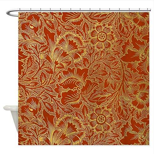 WIXIJAWR Cafe Press William Morris Floral Duschvorhang Dekorative Stoff Duschvorhang H220Xw220Cm