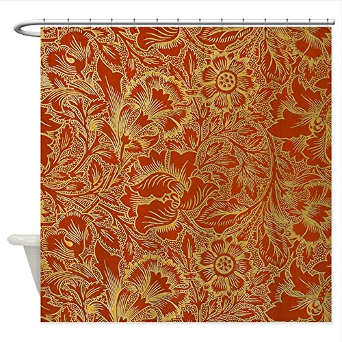 WUXEGHK Duschvorhang,Cafe Press William Morris Blumenduschvorhang Dekorativer Stoff Duschvorhang 220X220Cm