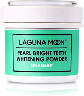 Teeth Whitening Powder by Lagunamoon,Natural no Damage to Enamel or Gum Premier Alternative to Activated Charcoal Powder Easy Cleaning