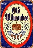 古いミルウォーキービール金属看板レトロな壁の装飾ティンサインバー、カフェ、家の装飾